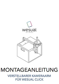 download WESUAL CLICK Montageanleitung variabler Kameraarm
