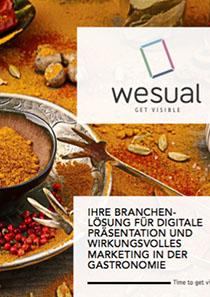 download wesual Gastronomie Broschüre