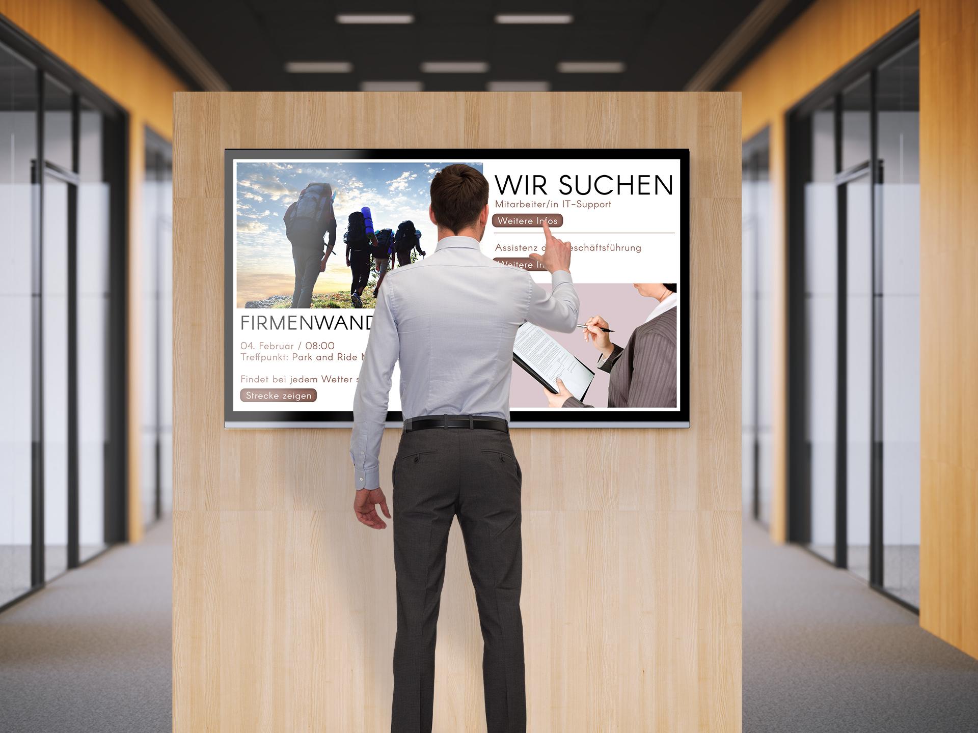 wesual interaktive Inhalte per touch-screen