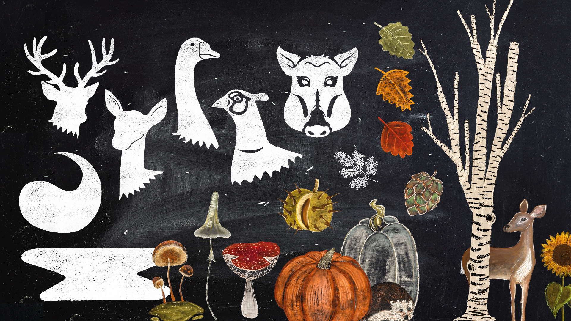 Herbstliche Grafiken und Illustrationen