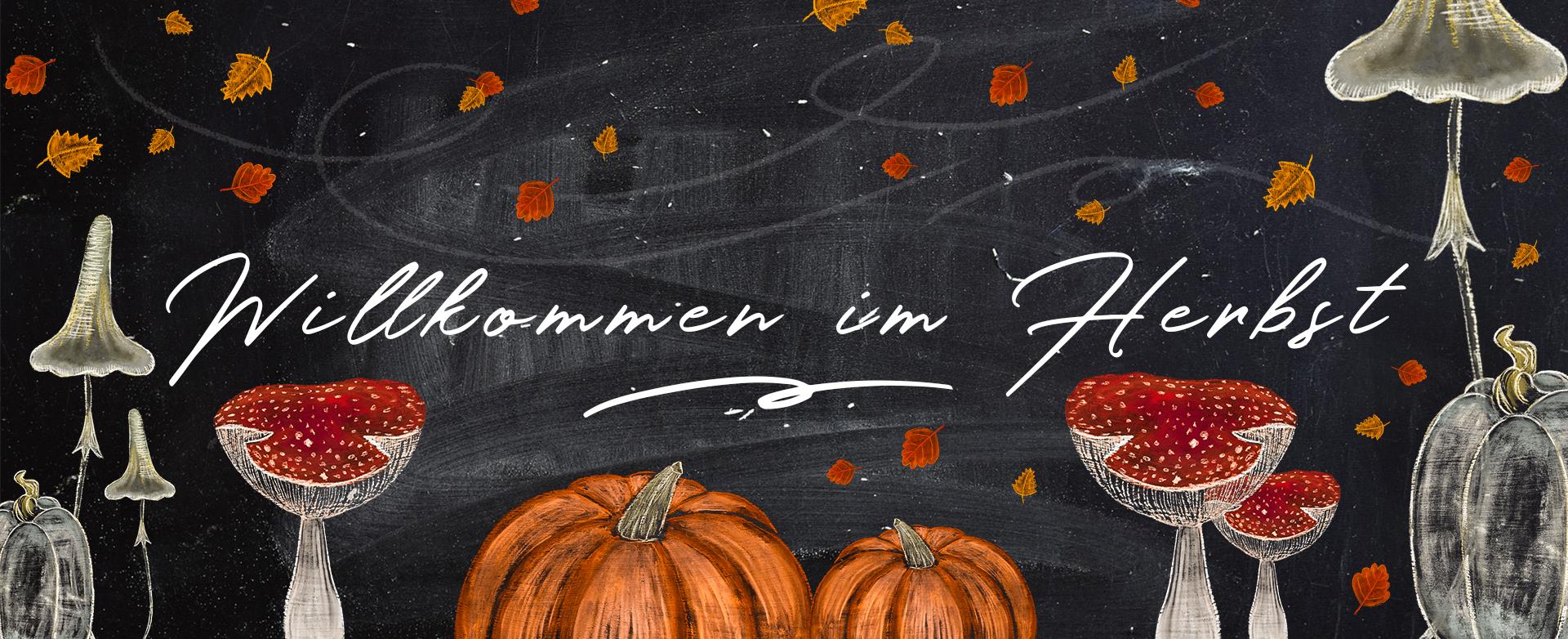 Herbstliche Designvorlagen