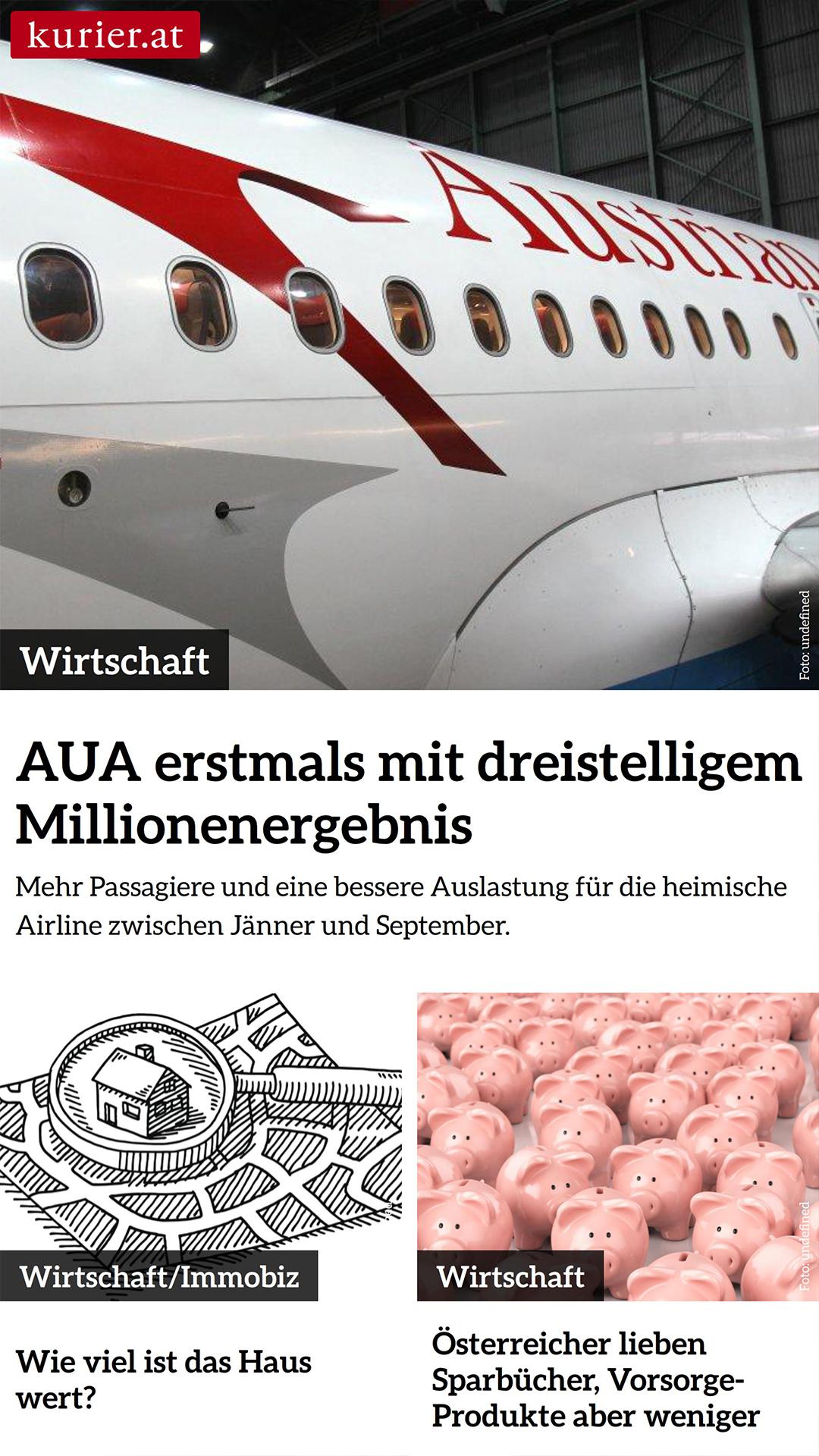 Automatisierte Anzeige von Wirtschaftsschlagzeilen von WESUAL