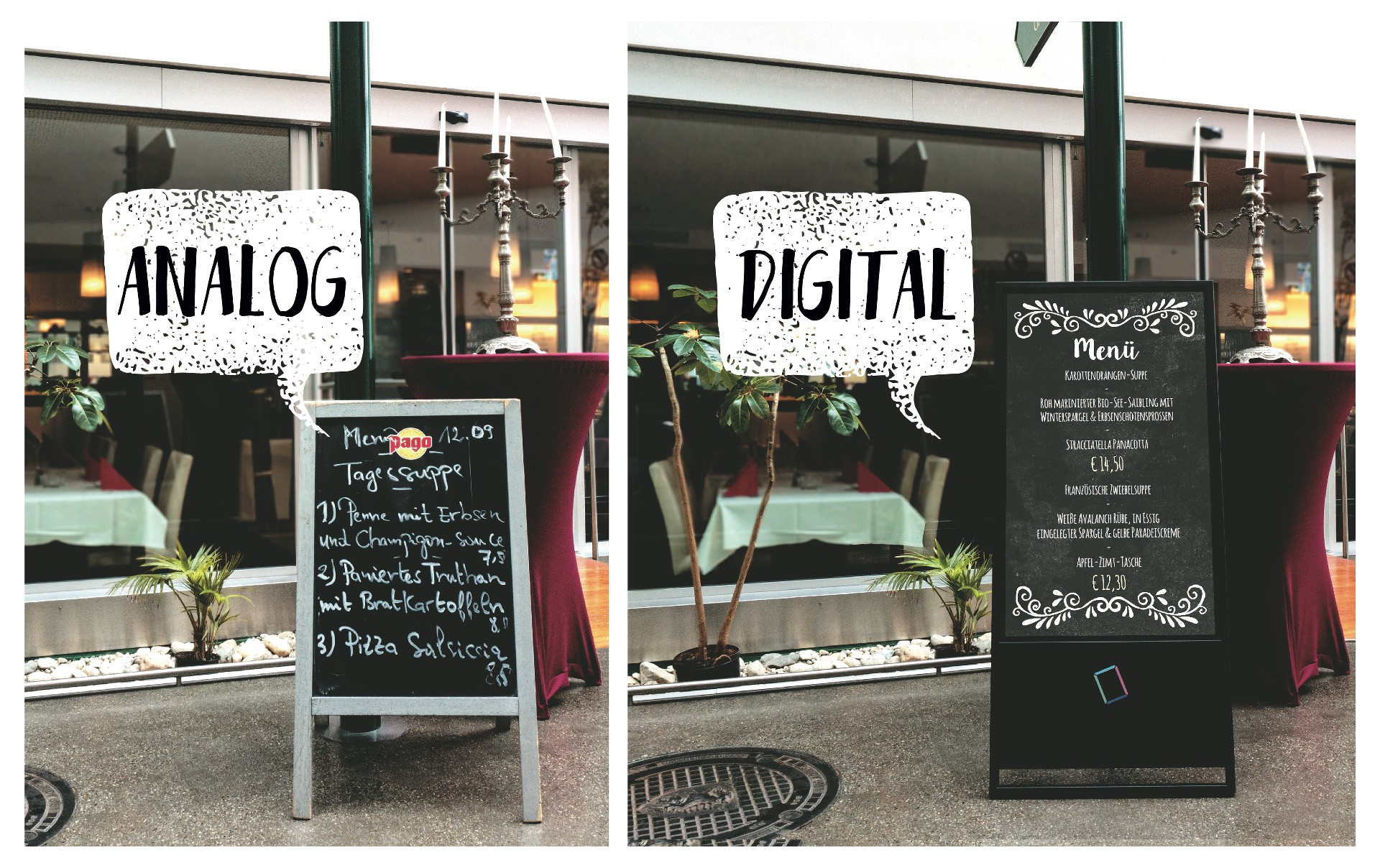 Kreidetafel anolog vs. digital